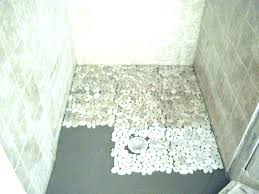 sliced pebble tile shower floor how to clean stone river rock bathroom ideas fresh st home shower floor