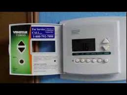 how to replace a digital thermostat venstar t2800 youtube venstar thermostat troubleshooting at Venstar Thermostat Wiring Diagram