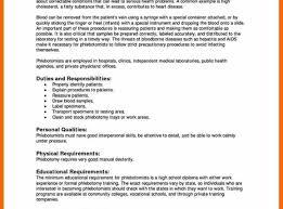 Phlebotomy Resume Examples Inspiration Entry Level Phlebotomy Resume Examples Sraddme