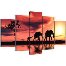 display gallery item 4 set of five cheap orange canvas wall art display gallery item 5 on african elephant canvas wall art with extra large elephants canvas prints 5 piece in orange