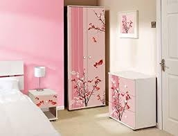 childrens pink bedroom furniture. Pink Floral Design Childrens/Kids White Bedroom Furniture Sets Childrens E