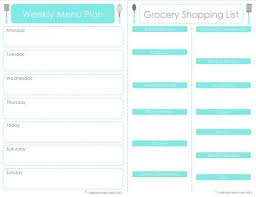 family menu template 30 family meal planning templates weekly monthly budget tip
