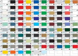 Tamiya Model Paint Chart 2019