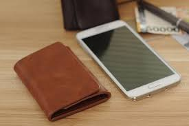 men money clip wallet genuine leather short card holder trifold magnet business mini wallet coffee brown brown ping tomtop