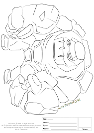 Free Printable Clash Of Clans Golem Coloring Pages 1 Clash Of