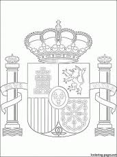 Small Picture Spain Flag Coloring Page With KeyFlagPrintable Coloring Pages