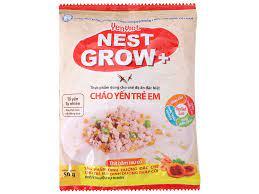 Cháo yến trẻ em Yến Việt Nest Grow+ thịt bằm rau củ gói 50g