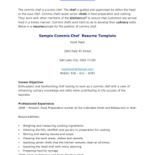 Sample 1 Page Resume One Samples Modern Head Chef Within Pastry