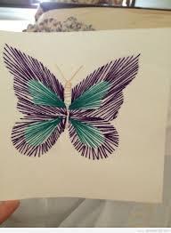 erfly string art card