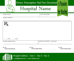 doctor prescription pad doctor prescription template