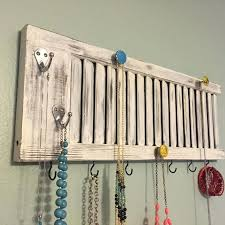 necklace hanger ideas shutter jewelry rack shutter decor jewelry holder  jewelry display shutter with knobs jewelry