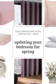 Lilac Bedroom Curtains A Spring Bedroom Update Curtains Bedding With Yorkshire Linen