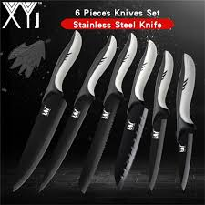 <b>XYj</b> Professional <b>Stainless</b> Steel Kitchen Knife Set 7Cr17 Japanese ...
