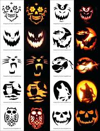Free Printable Pumpkin Carving Patterns Adorable Cool Pumpkin Carving Stencils Templates Free Scary Pumpkin Stencils