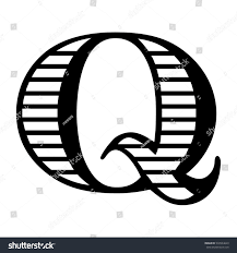 letter Q black color logo vector design template elements for your  application or company identity.