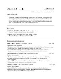 Word Resume Template Example Document And Resume