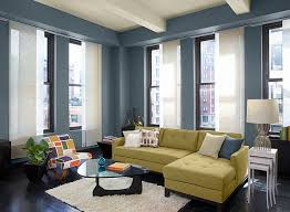 Blue Living Room Ideas - Sleek, Sky Blue Living Room - Paint Colour Schemes