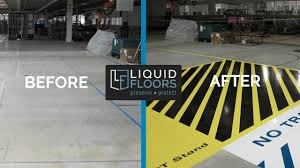 automotive epoxy flooring line striping installation case study greer sc