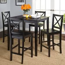black dining room furniture sets. Simple Living Cross Back Counter Height 5-piece Table And Chair Set Black Dining Room Furniture Sets T