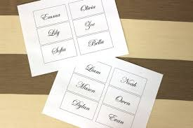 wedding table cards template easy and elegant diy flower place cards for your wedding petal talk