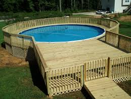 above ground pool with deck and hot tub. Round Above Ground Pool With Deck And Hot Tub A