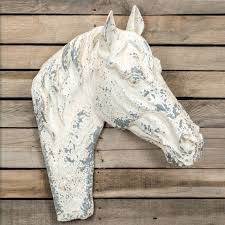 paper mache wall decor horse head