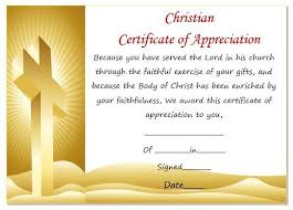 Anniversary Certificate Template Fascinating Christian Certificate Of Appreciation Template Pastor Appreciation