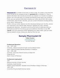 Pediatrician Resume Sample Elegant Resume Samples For Pharmacy