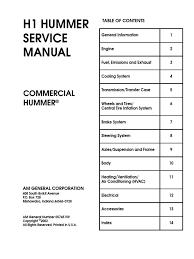 Hummer h1-Service Manual | Gear | Transmission (Mechanics)