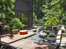 Lawn & Garden:Fresh Japanese Garden Landscaping Idea For Small Space With  Natural Materials Japanese