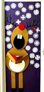 winter door decorating ideas. Reindeer Door Decoration Winter Decorating Ideas A