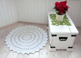 full size of round flower shaped rug area rugs white doily in cm crochet decorating outstanding