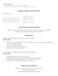 Resume Skills For Bank Teller Magnificent Resume Skills For Bank Teller Job Sample A With No Experience