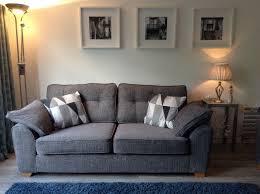 dfs large 3 seater fabric sofa dark