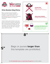 Bag Policy Ohio State Buckeyes