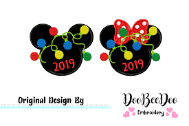 Bowling Machine Embroidery Designs Christmas Mickey And Minnie Christmas 2019 Applique Machine Embroidery Design