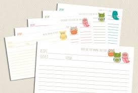 001 Editable Recipe Card Template Word Web Photo Gallery Free