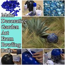 Decorated Bowling Balls Make Decorative Garden Art From Bowling Balls The Homestead Survival 57