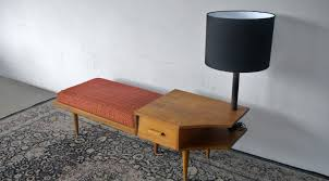 vintage 60s furniture. Vintage 60\u0027s Settee Cum Telephone Table With Attached Lamp. Taken. 60s Furniture K
