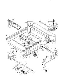 Dewalt 10 job site table saw parts model dw744type1 sears