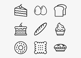Bakery And Cake Hand Drawn Icons Png Transparent Png 600x564