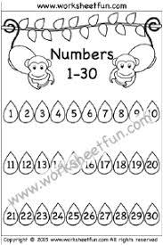 Numbers 1 30 Free Printable Worksheets Worksheetfun