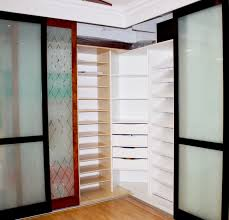wood grain frames with sandblast glass custom designed wood shelving