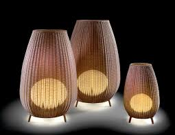 the synthetic fiber handmade baskets that make up alex fernndez camps and gonzalo mils amphora collection of freestanding outdoor lighting come in four bover lighting