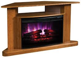 ask us a question amish classic corner tv stand led electric fireplace