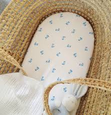Owl Design Fitted Bassinet Or Pram Sheet