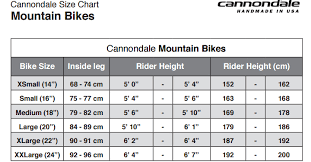 Cannondale Caad12 Size Chart Cannondale Size Chart
