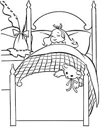 Small Picture The Girl Sleep Christmas Eve Coloring Page Christmas Eve