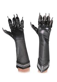 deluxe black panther kids gloves