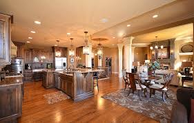 Entertaining Is Easy With An Open Timber Frame Floor PlanOpen Floor Plan Townhouse